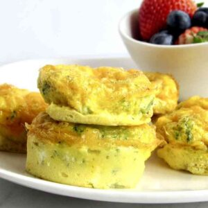 3 ingredient cheddar broccoli egg muffins