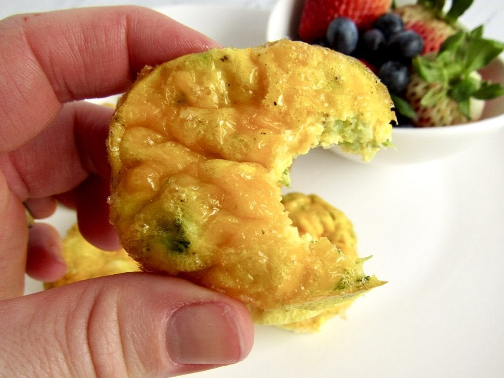 3 ingredient cheddar broccoli egg muffins