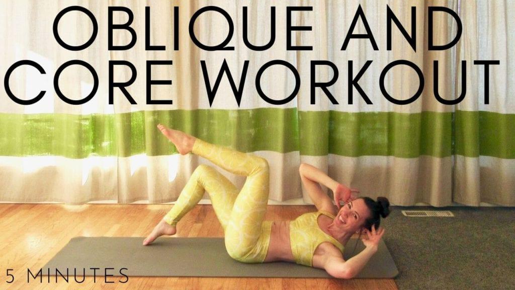 5 minute oblique and core workout