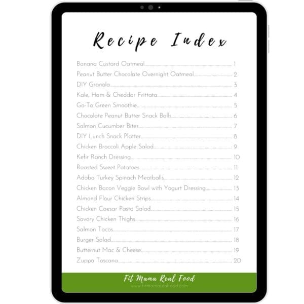 ebook real food recipes for the whole family recipe index