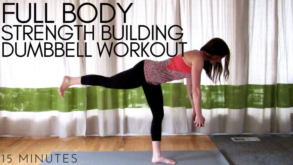 15 minute full body strength building dumbbell workout