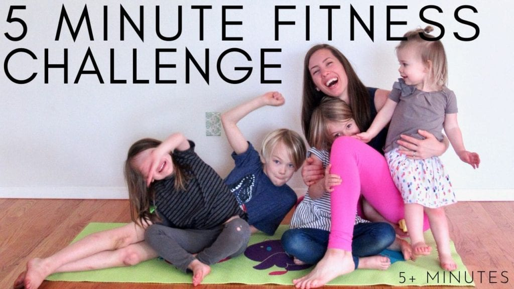 5 minute fitness challenge workout video