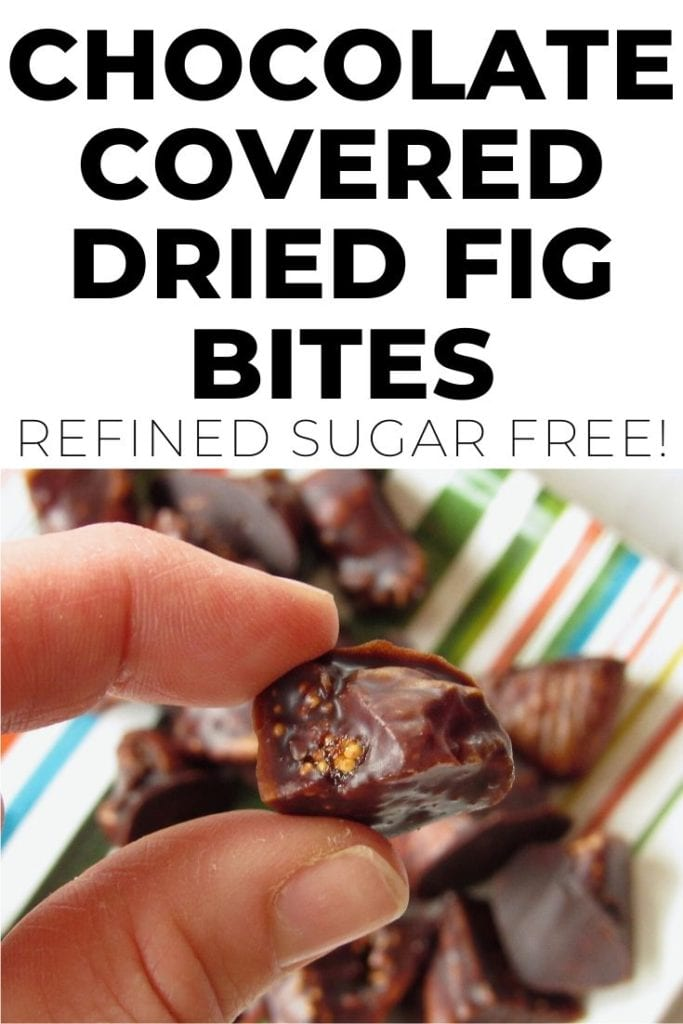 Chocolate Covered Dried Fig Bites