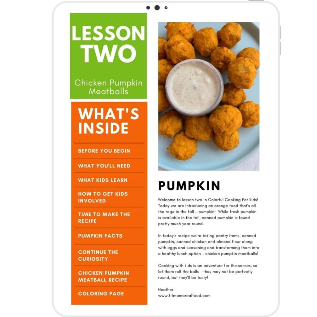Colorful Cooking For Kids Lesson Two