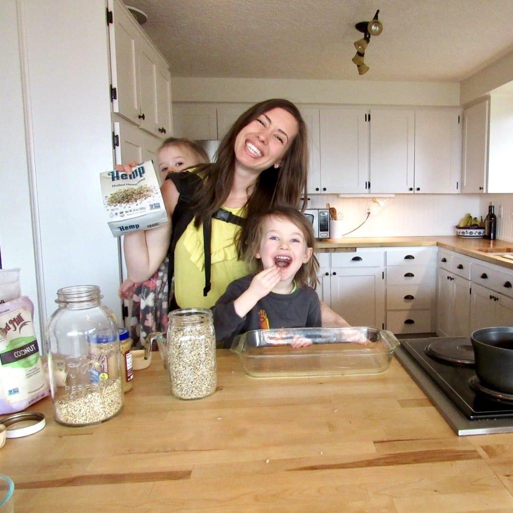 Hemp Granola (naturally sweet + gluten free!) | cooking with kids