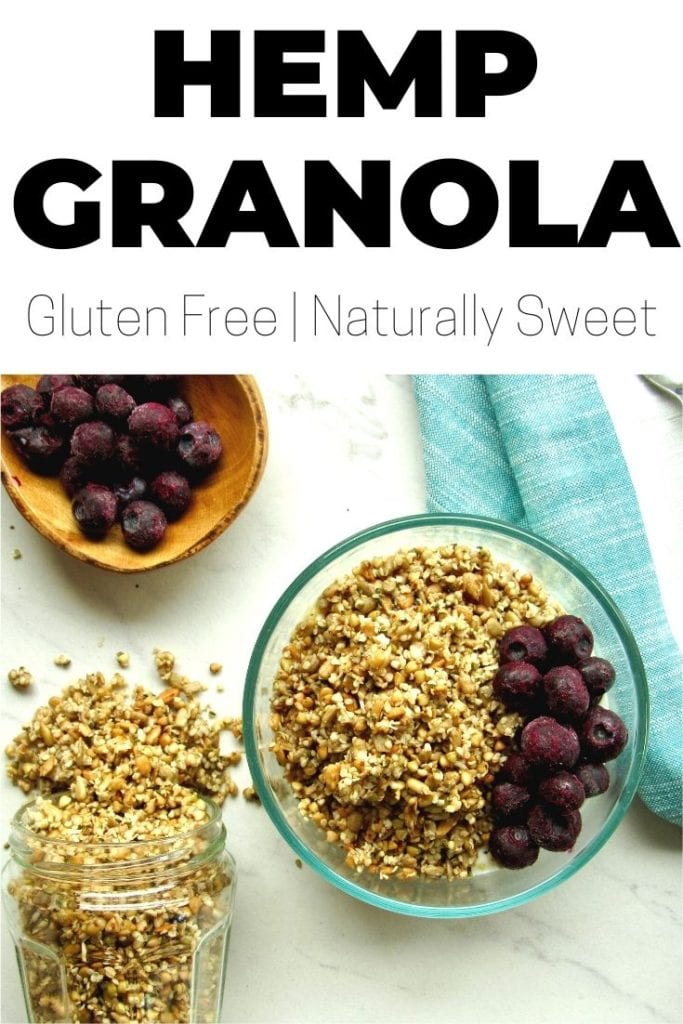 Hemp Granola (naturally sweet + gluten free!)