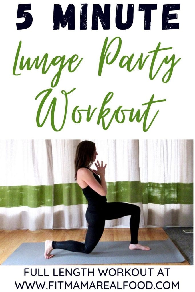 5 minute lunge party workout