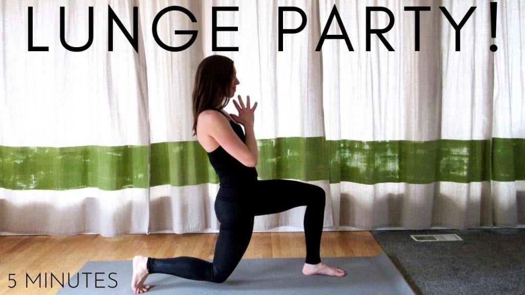 5 minute lunge party workout video