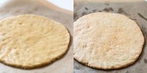 almond flour cookie pizza crust