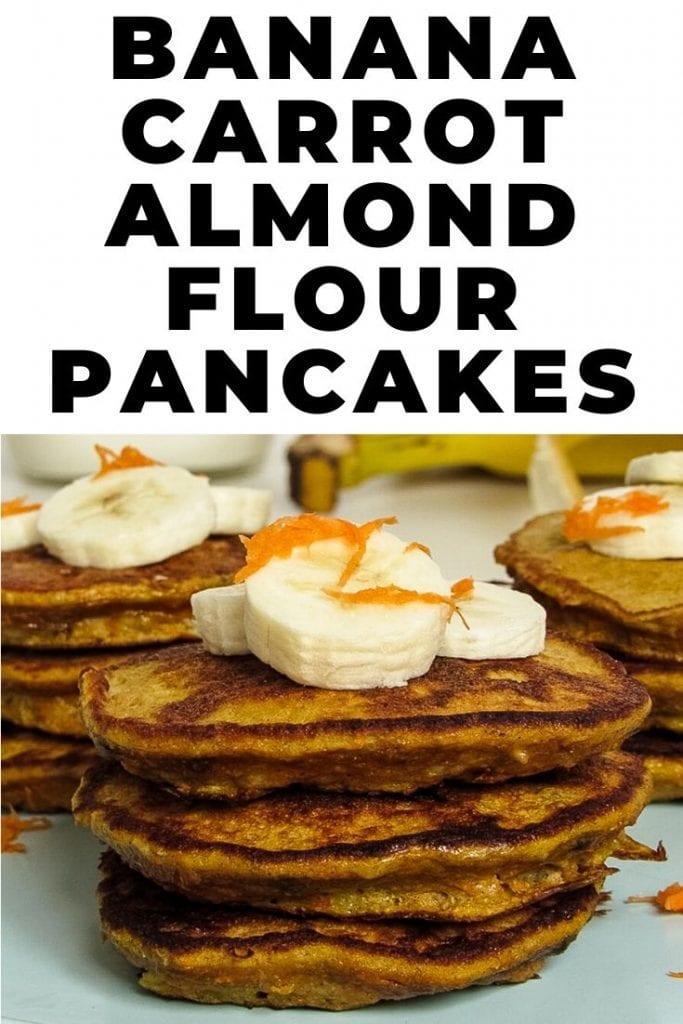 banana carrot almond flour pancakes