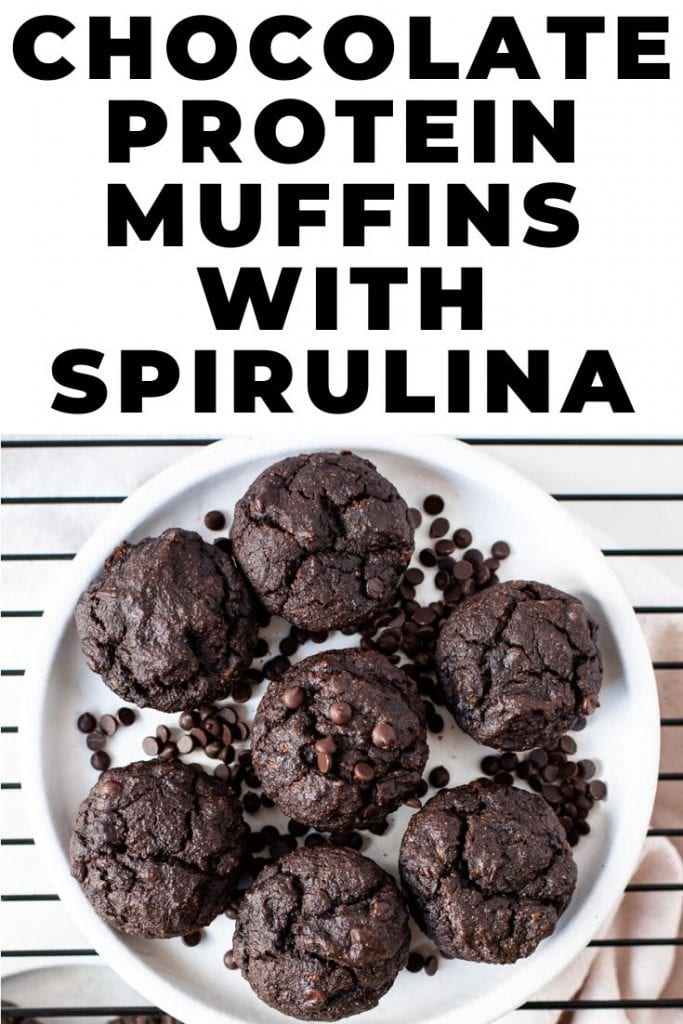 Chocolate Protein Muffins with Spirulina
