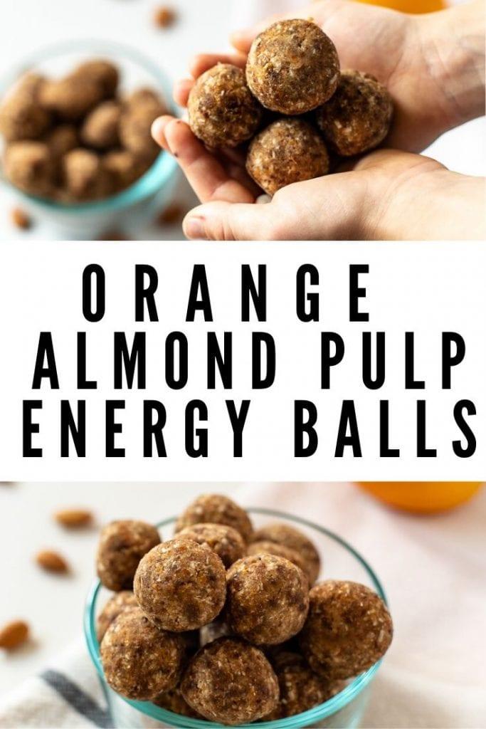 Orange Almond Pulp Energy Balls