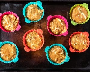 how to make almond butter zucchini muffins