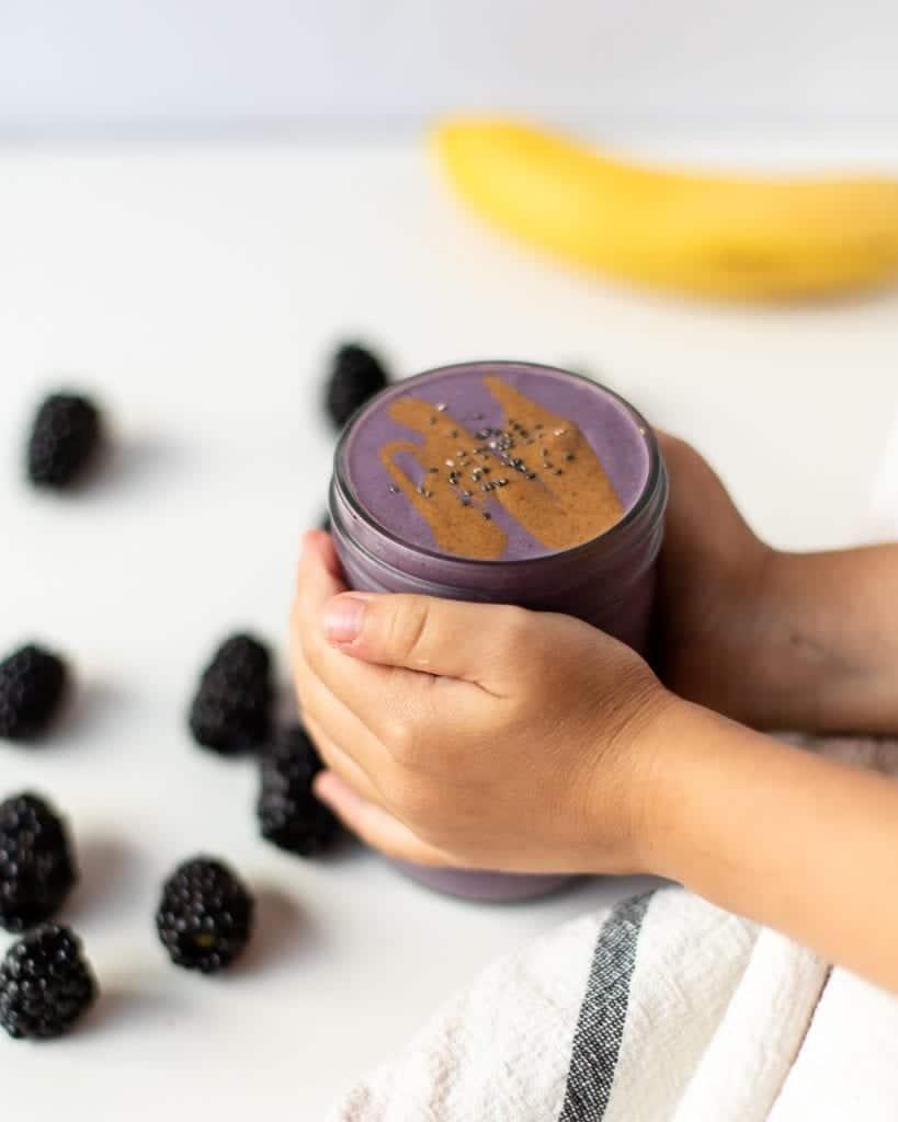 blackberry almond smoothie