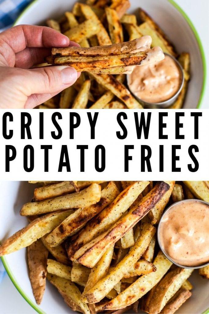 Crispy Sweet Potato Fries with Chipotle Mayo