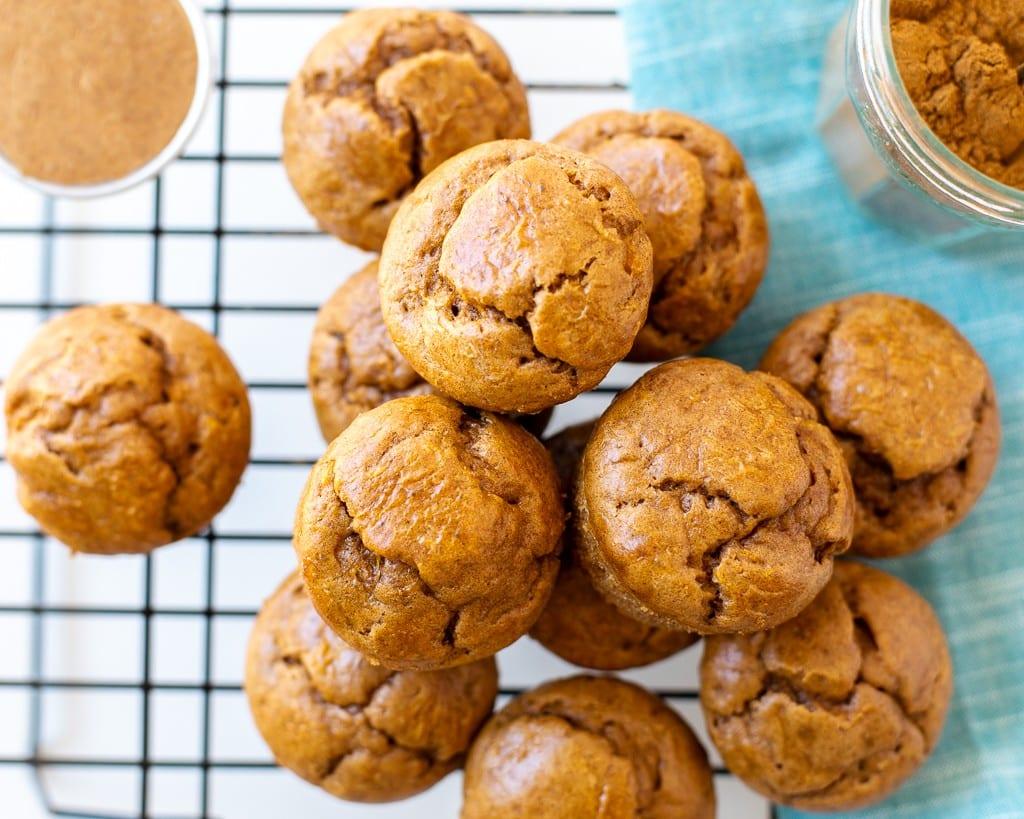 almond butter butternut squash muffins