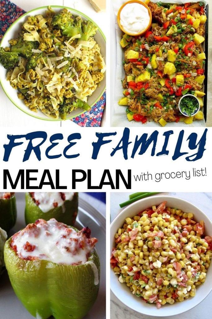 free family meal plan