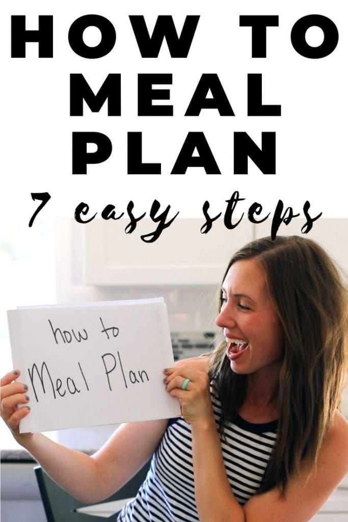 how to meal plan in 7 easy steps