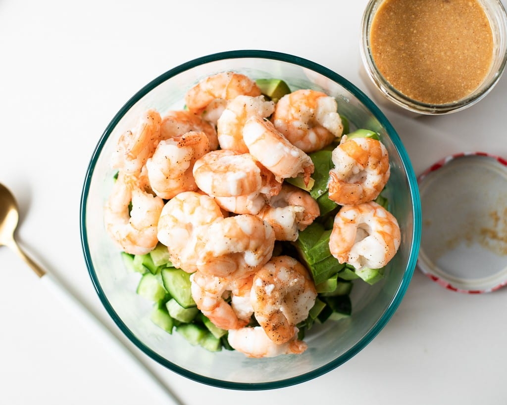 Cucumber Shrimp Peanut Salad