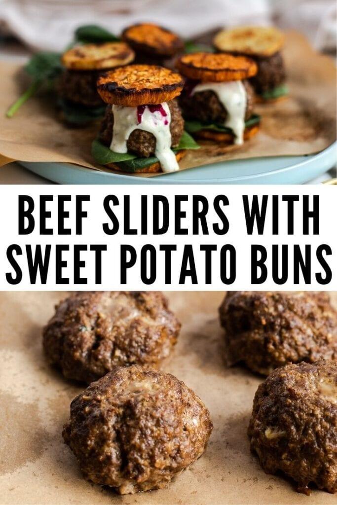 Beef Sliders With Sweet Potato Buns