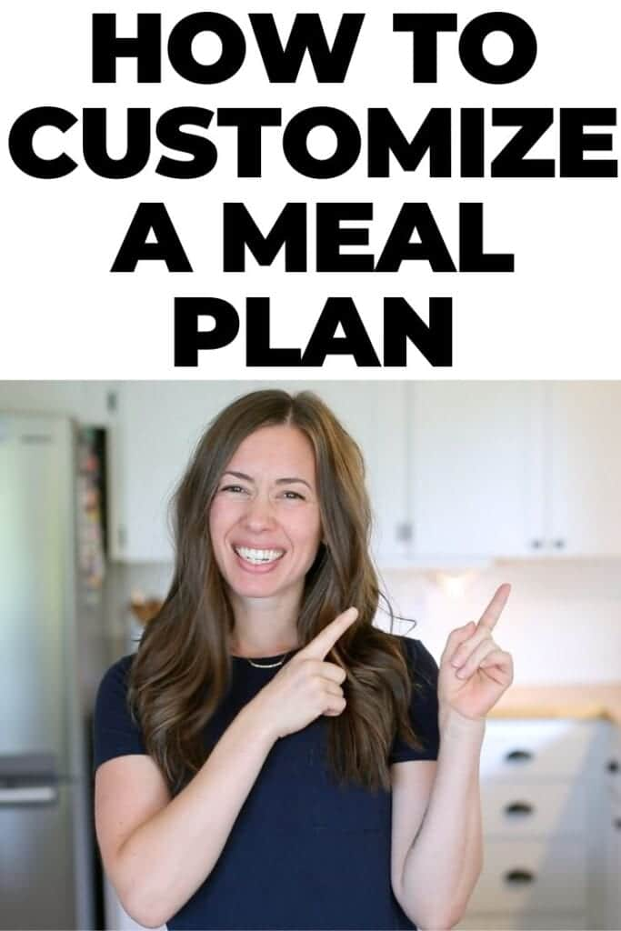 how to customize a meal plan