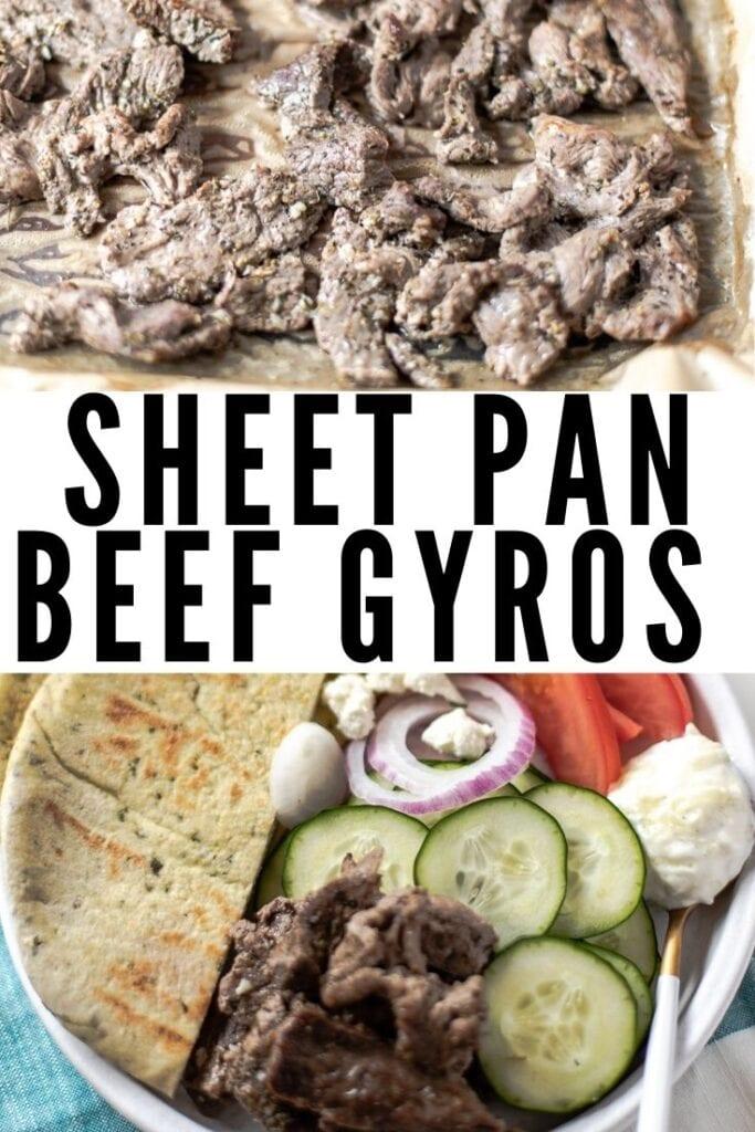 Sheet Pan Beef Gyros