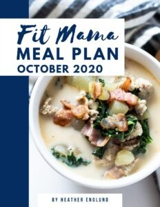 October 2020 Meal Plan