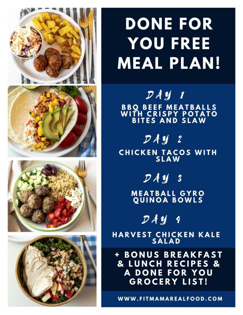 free meal plan menu