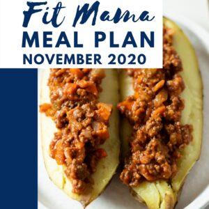 November 2020 Meal Plan
