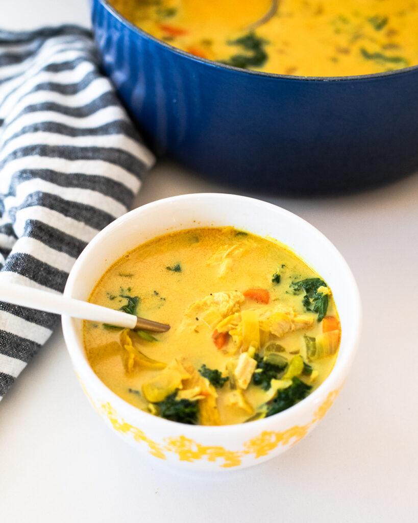 healing turmeric chicken soup