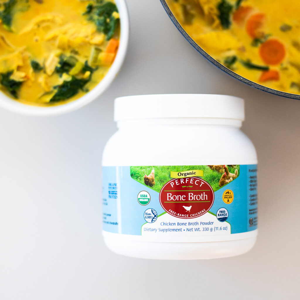 healing chicken turmeric soup bone broth rich