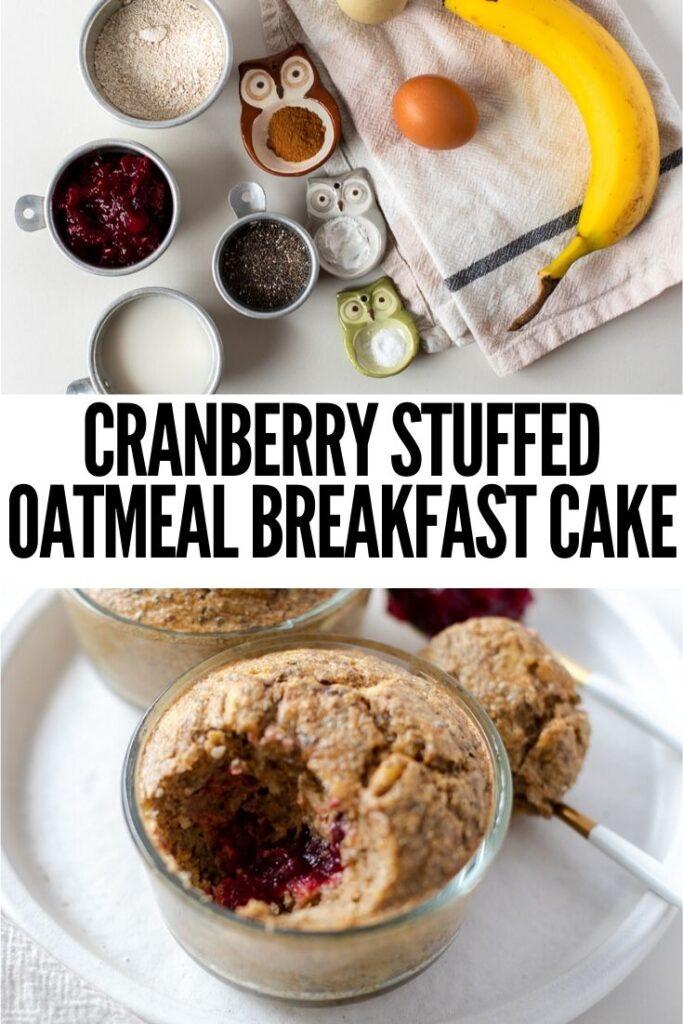 cranberry stuffed oatmeal breakfast cake