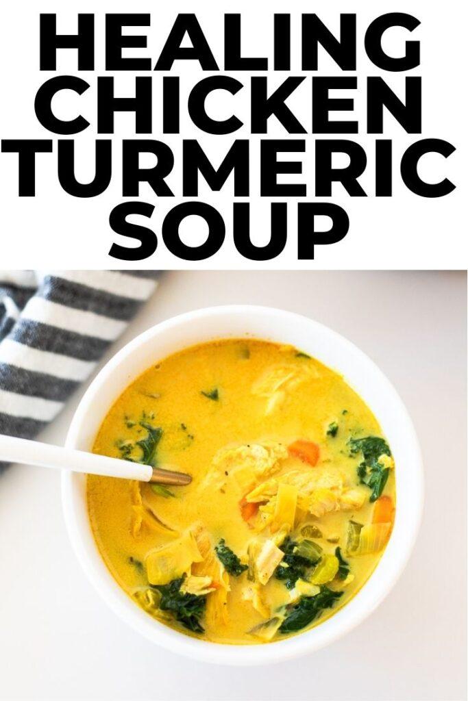 healing chicken turmeric soup