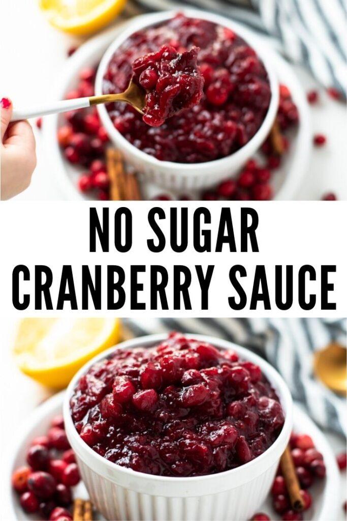 no sugar cranberry sauce