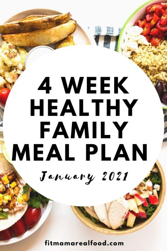 January 4 week meal plan
