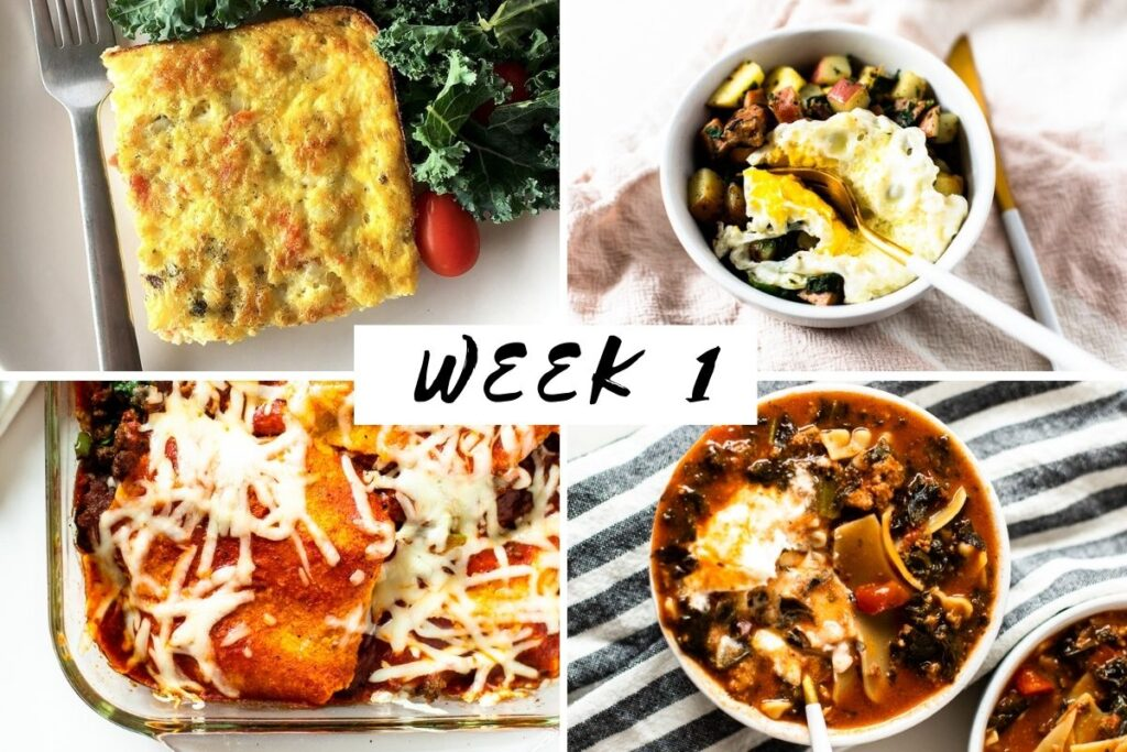 January 2021 week 1 meal plan