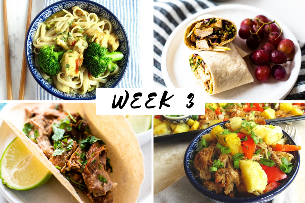January 2021 week 3 meal plan