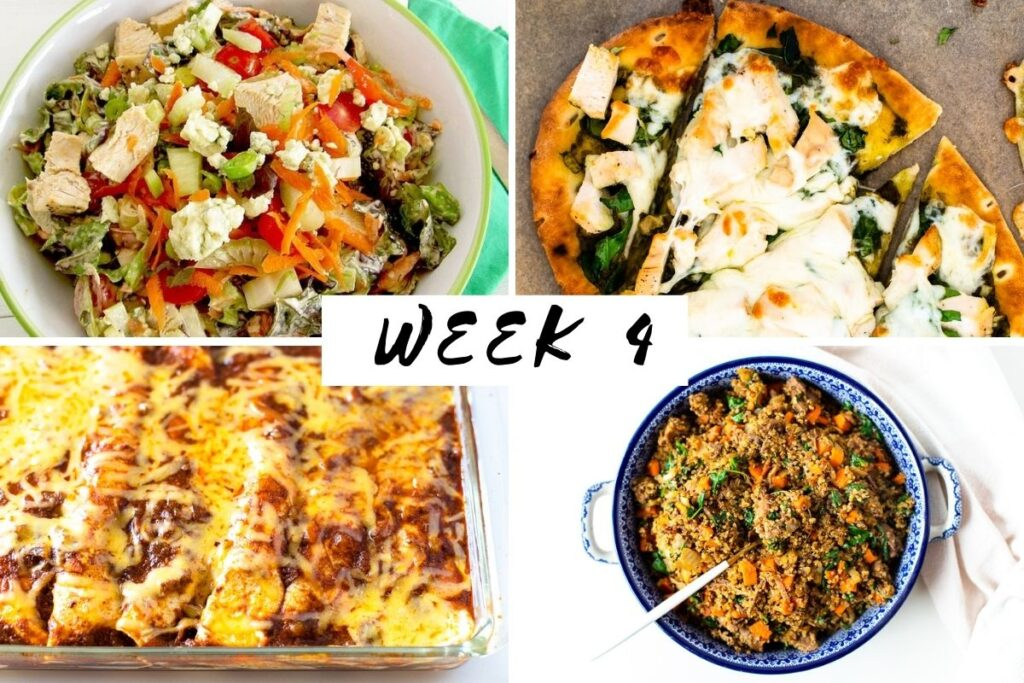 January 2021 week 4 meal plan