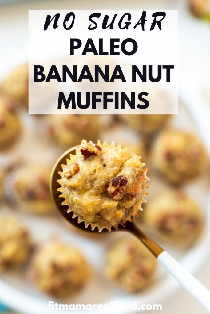 no sugar paleo banana nut muffins