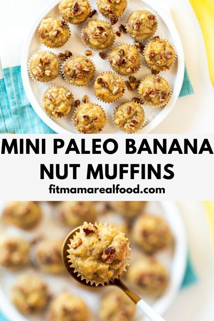 mini paleo banana nut muffins