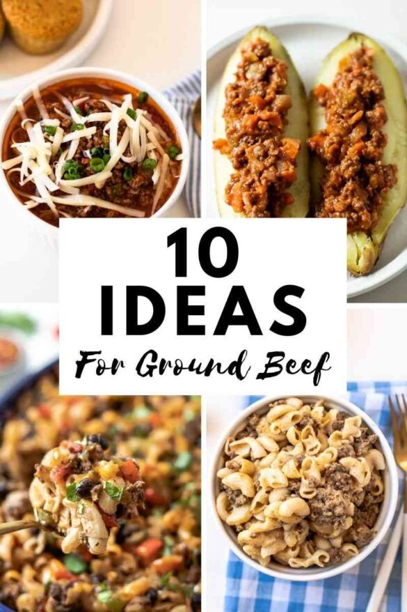 10 ideas for ground beef