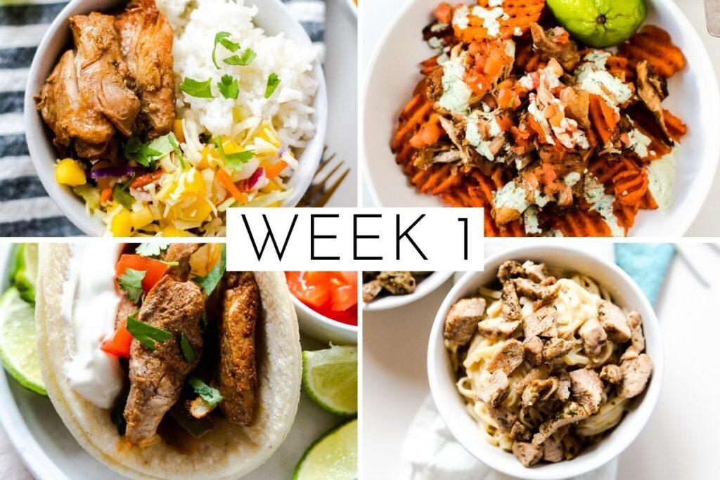 week 1 February 4 week meal plan
