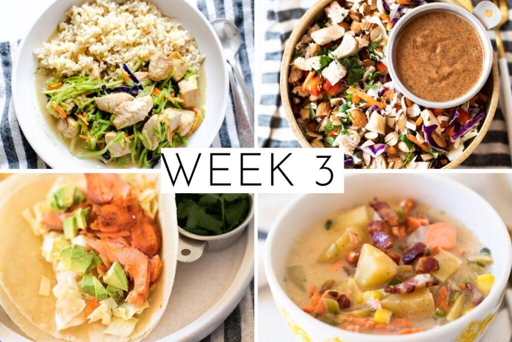 week 3 February 4 week meal plan