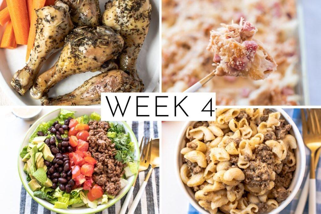week 4 February 4 week meal plan