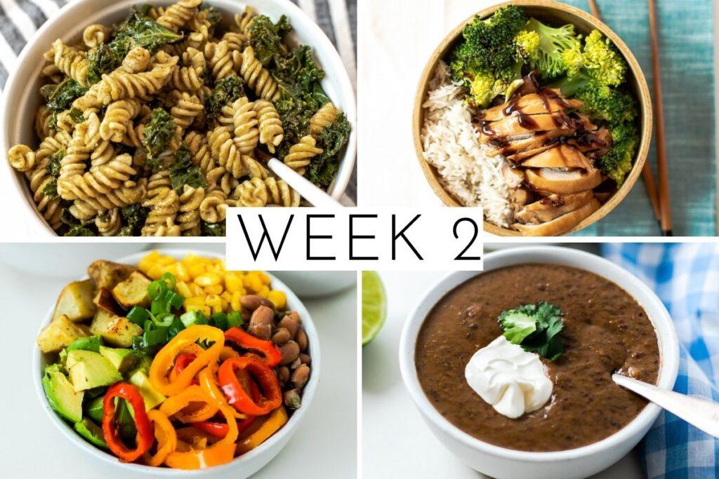 4 week March meal plan