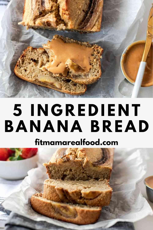 5 ingredient banana bread