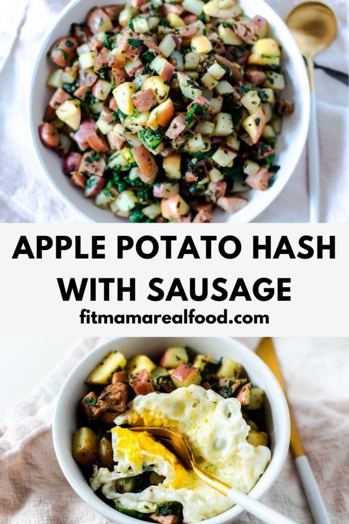 apple potato hash with sausage