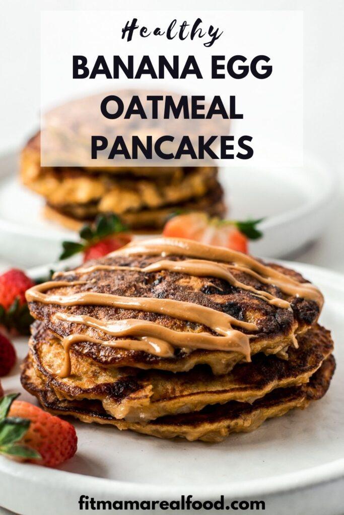 Banana Egg Oatmeal Pancakes-2