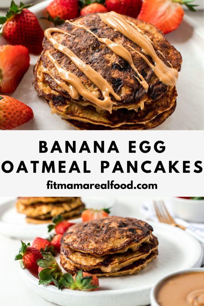 Banana Egg Oatmeal Pancakes