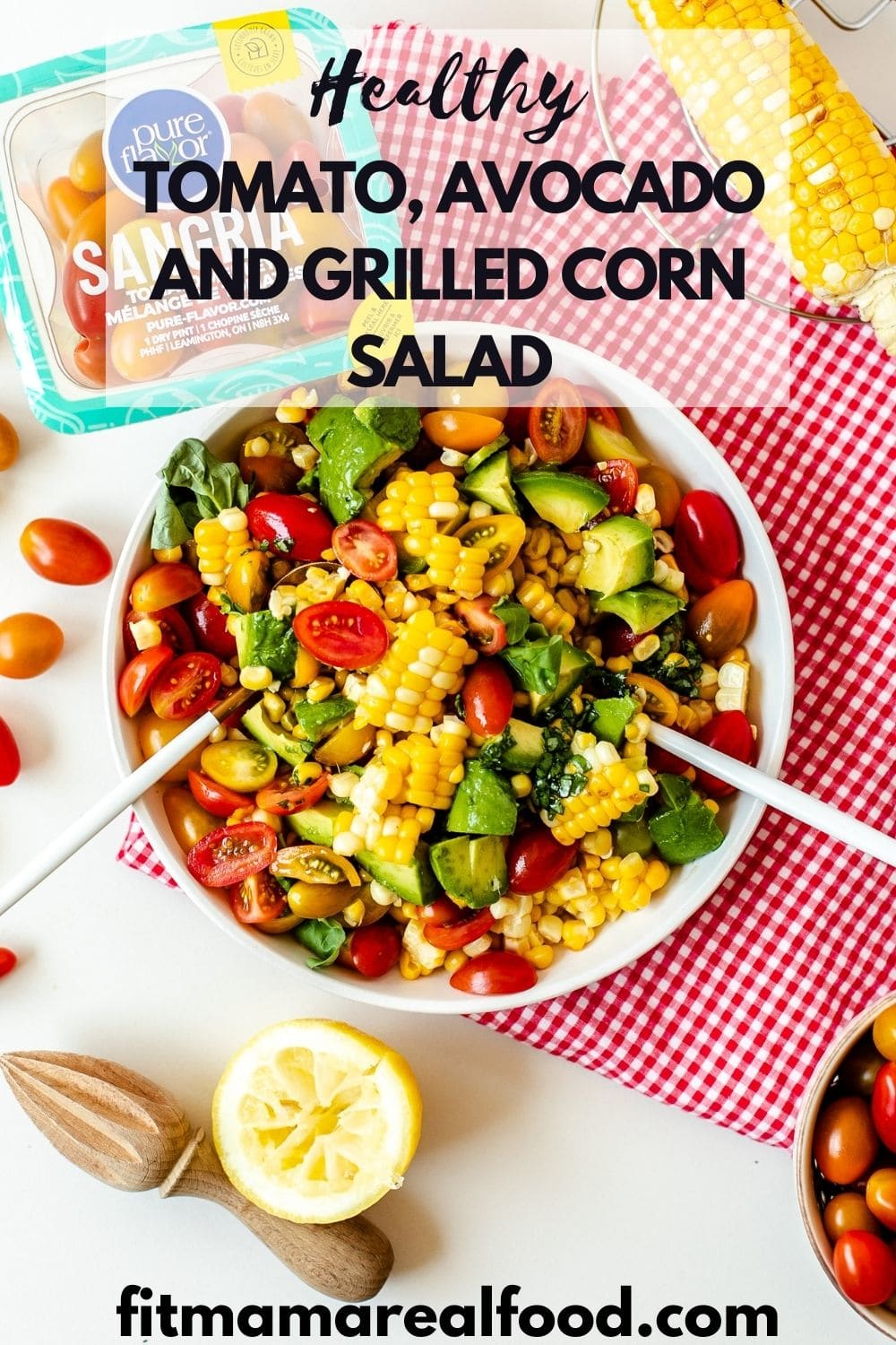 Tomato and Avocado Salad With Grilled Corn